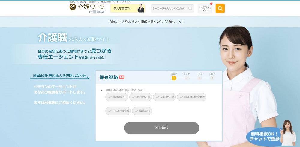 介護ワーク公式サイトイメージ図